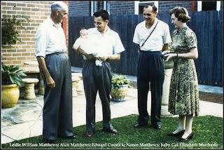 Les, Alan, Nance Matthews; baby Gai; Ted Cosstick