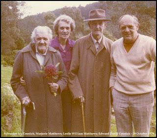 Les & Marjorie Matthews; Ivy & Ted Cosstick - 29 October 1979