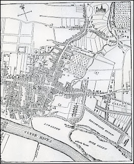 Map of Glasgow and Calton, Early 1800s