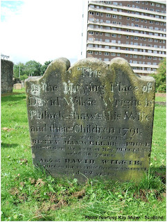 Grave of David and Elizabeth Wilkie - Pollockshaws - Courtesy Kay Shaw