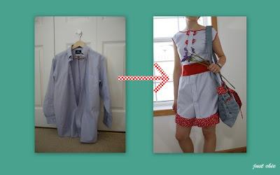 12 платье из мужской рубашки.