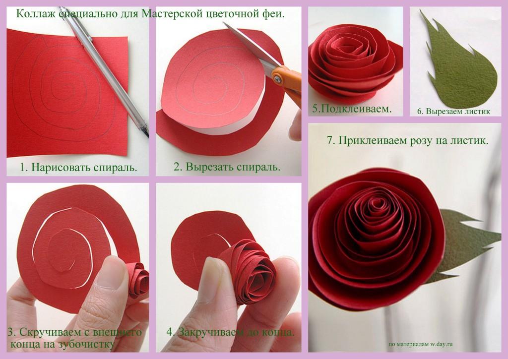 Делаем розу из бумаги своими руками 85
