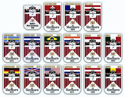 Auto Formula Racing on Marlboro Racing Brm Formula 1 1973 Stickers
