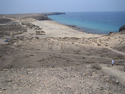 Treeless beach Lanzarote