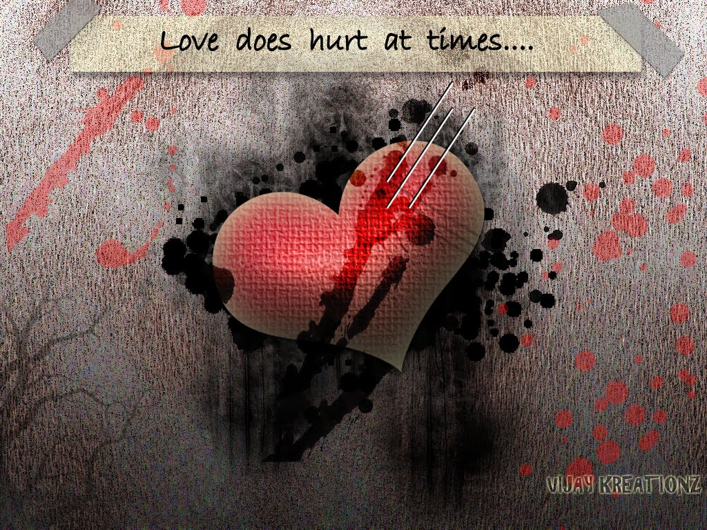Vijay Kreationz Love Hurts Wallpaper