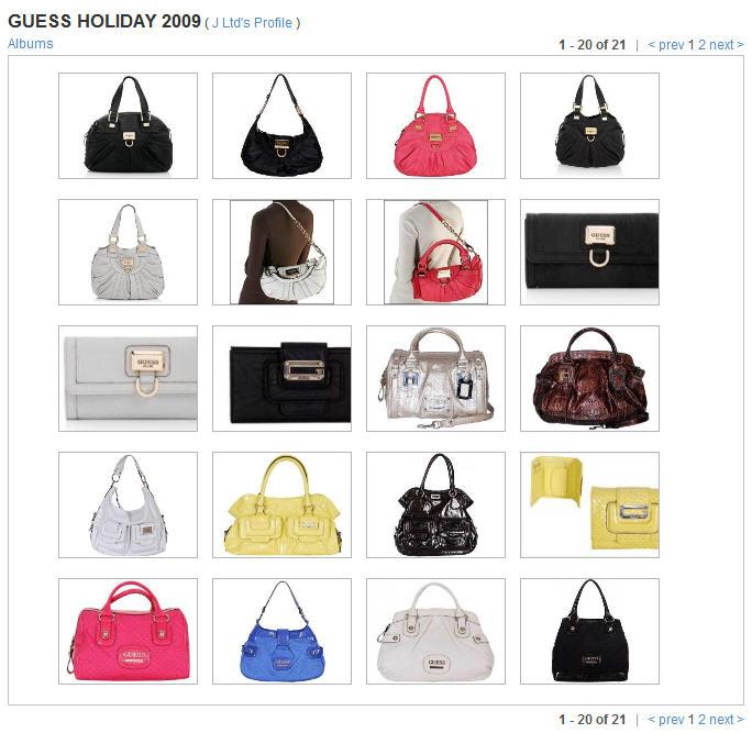 Guess Handbags 2009