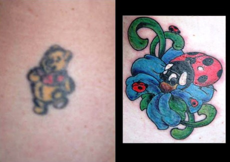 cover up tattoos. is later covered-up with a