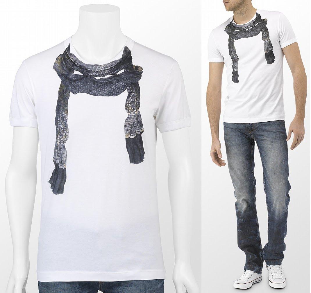 d g scarf print t shirt