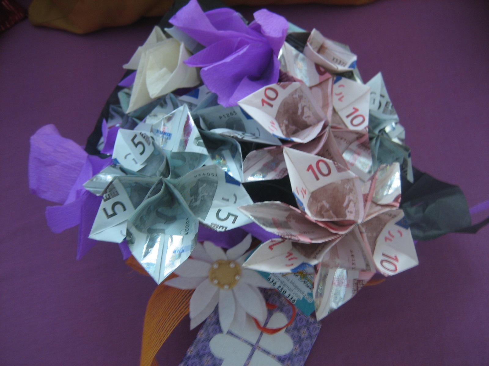 La boutique de la luciernaga bouquet de billetes regalo for Regalos para hermanos en boda