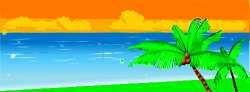South Pacific island scene