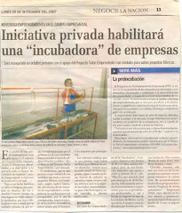 Incubadora creada por el SALON EMPRENDEDOR p/ Peq. Industrias salonemprendedor@yahoo.com