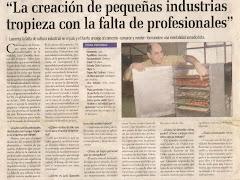 Reportaje Capacitación Técnica p/Fabricación salonemprendedor@yahoo.com