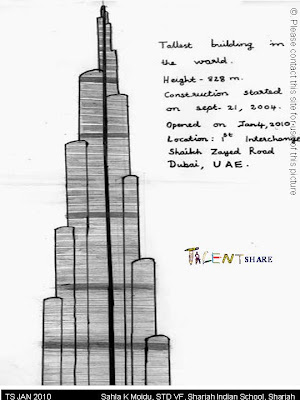 Burj khalifa sketches sketch coloring page for Burj khalifa sketch