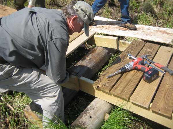 Roofing Walk Boards : Tom s installing a boardwalk across our wetland