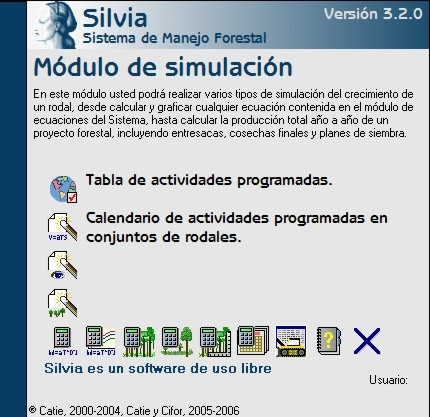 Ingenieria forestal software silvia v 3 4 3 for Manejo de viveros forestales