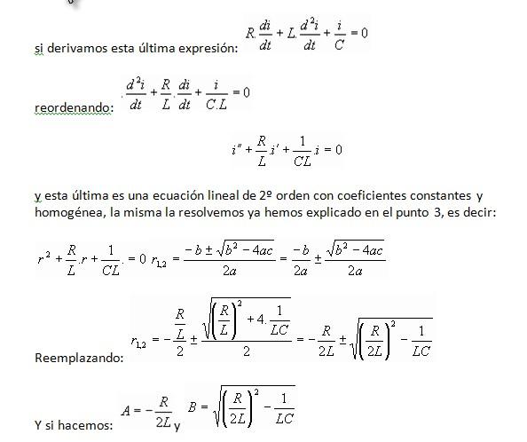 Circuito Rlc Ecuaciones Diferenciales : Proyecto ecuaciones diferenciales régimen transitorio en