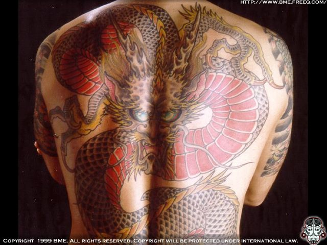 Black and Gray Asian Eastern Dragon Tattoo · Black and gray ink Eastern