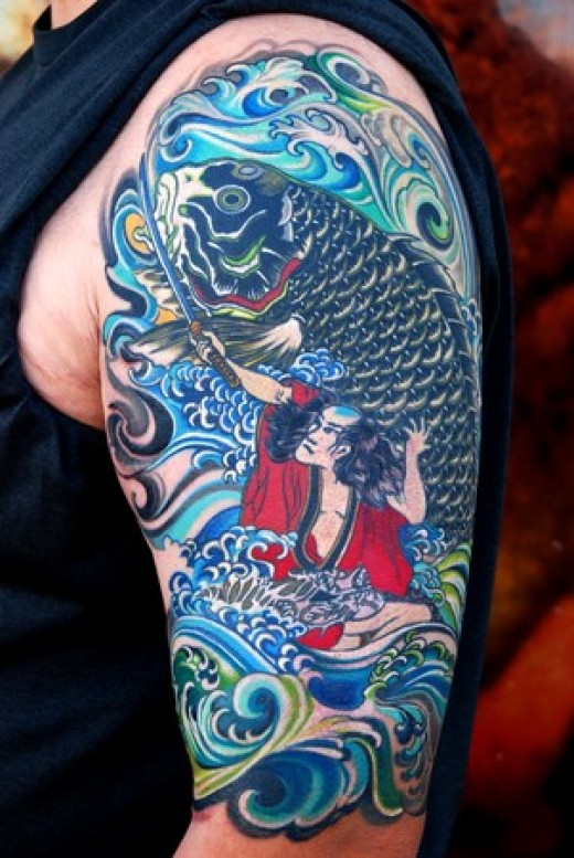 Japanese Koi Fish Tattoos-21