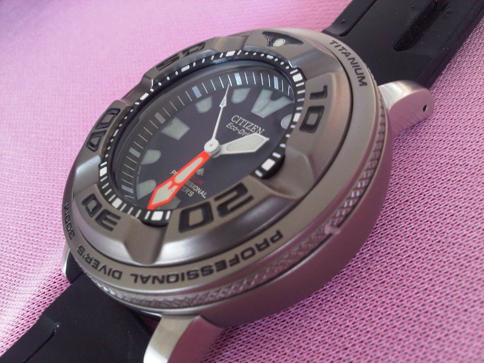 Koleksi qistina vintage watches citizen ecozilla profesional diver 300m titanium - Citizen titanium dive watch ...
