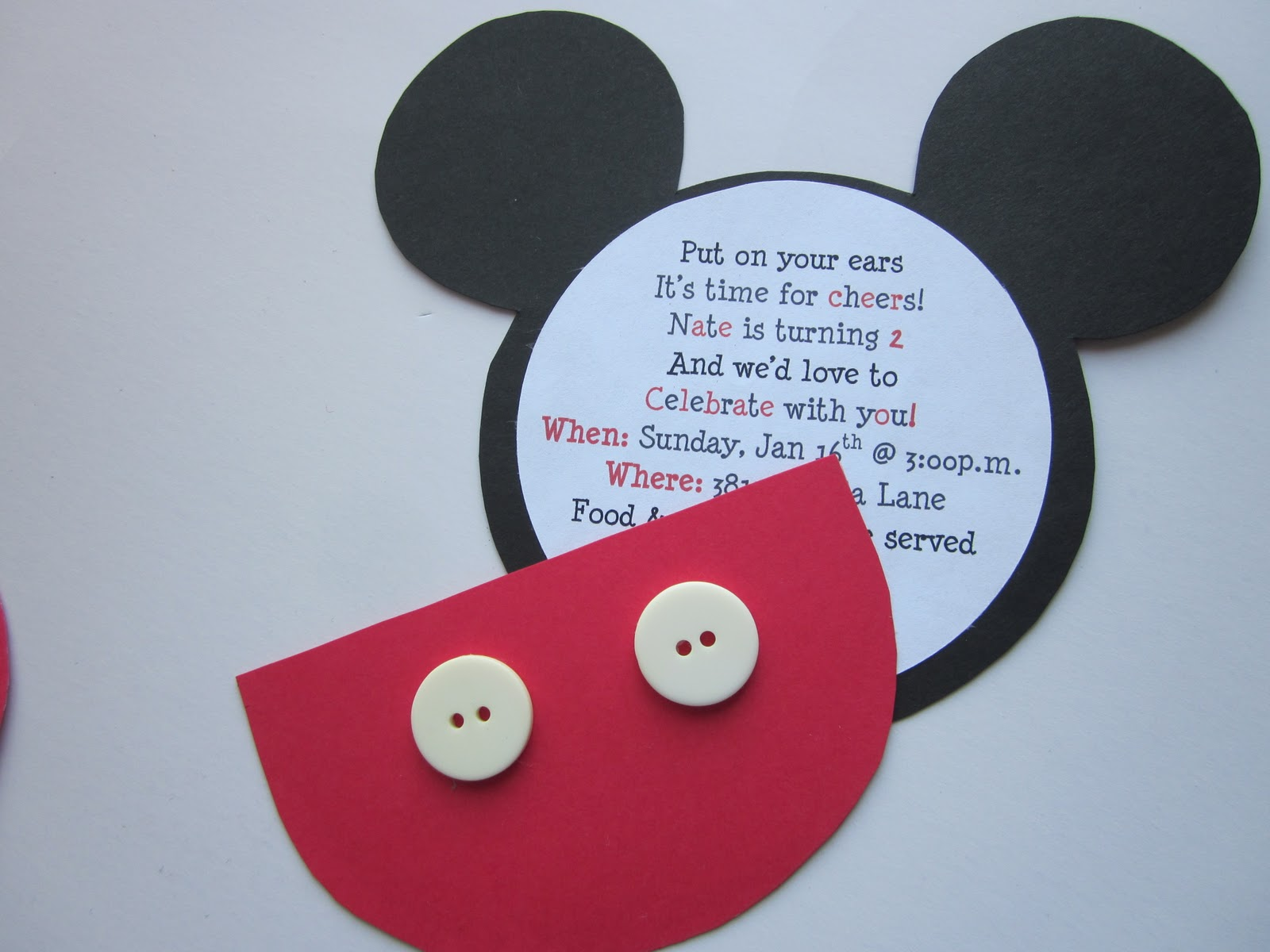 embellishing life mickey birthday invitations