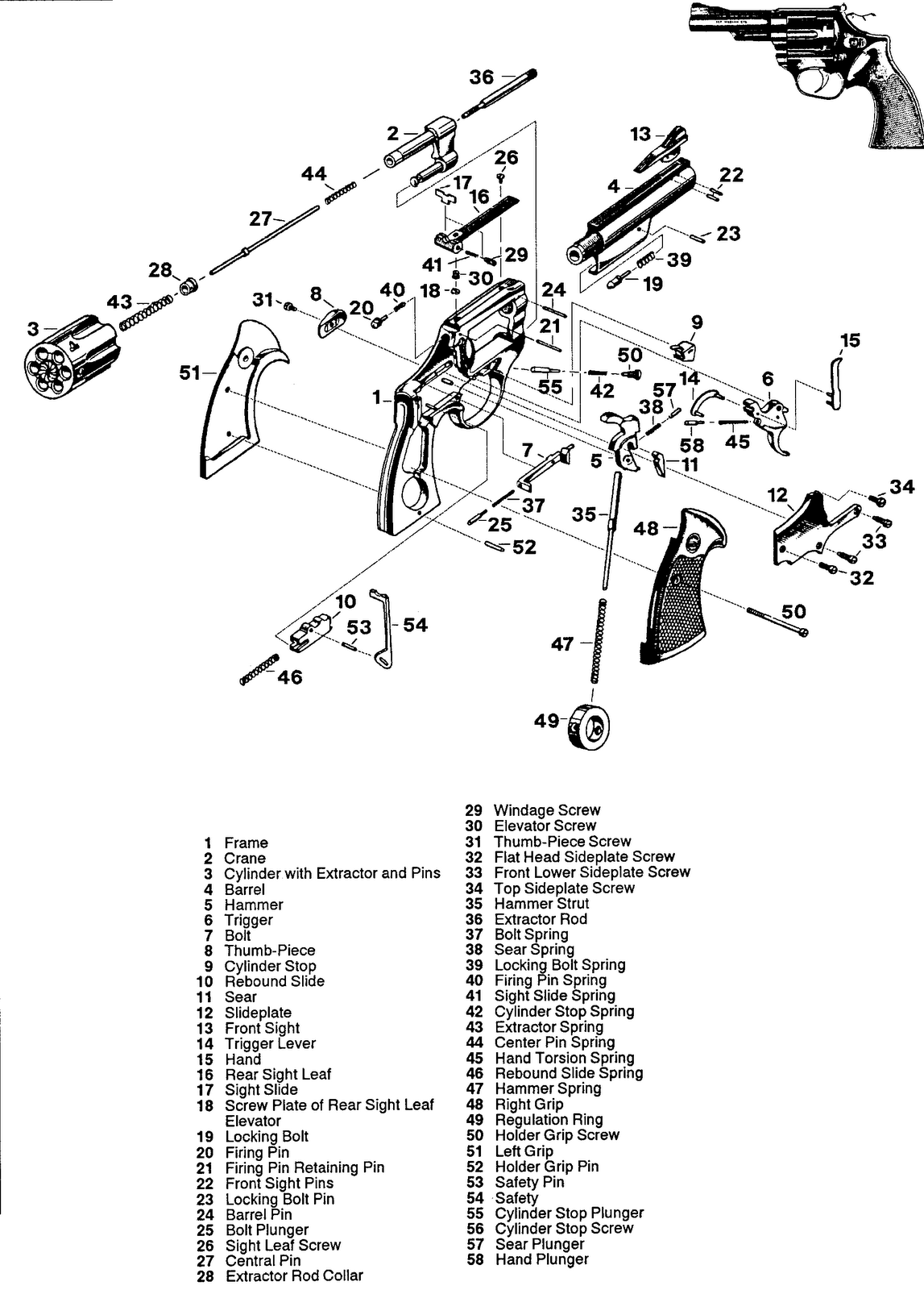 taurus model 66 parts diagram