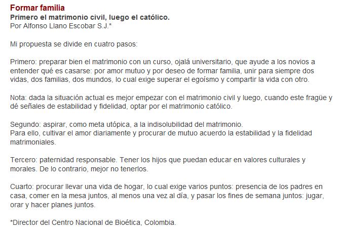 Matrimonio Catolico Con Extranjero En Colombia : Secretum meum mihi