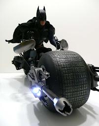 batman rides batpod