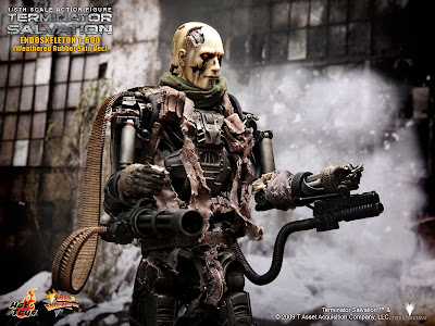 T 600 Terminator Salvation toyhaven: Hot Toys T-600 Weathered Rubber Skin version Preview