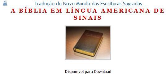 Bíblia em Língua Americanda de Sinais