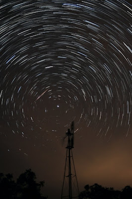 Perseids and Pole Star. Copyright 2008 Chris W. Johnson, All Rights Reserved.