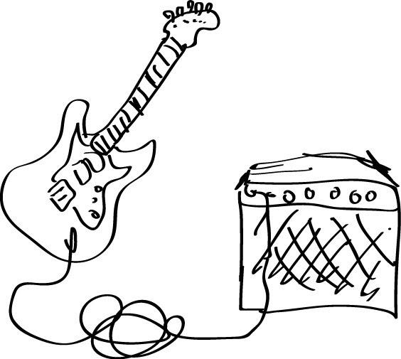 digital drawing - david balmforth  guitar  u0026 amp