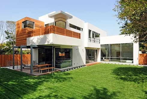Sopraelevare con le case prefabbricate Contemporary house designs uk