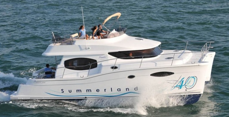 French Catamaran specialist Fountaine Pajot presents the 40 Summerland, ...