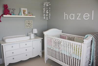 Boy room idea paint colors for baby boy room - White and grey nursery ideas ...