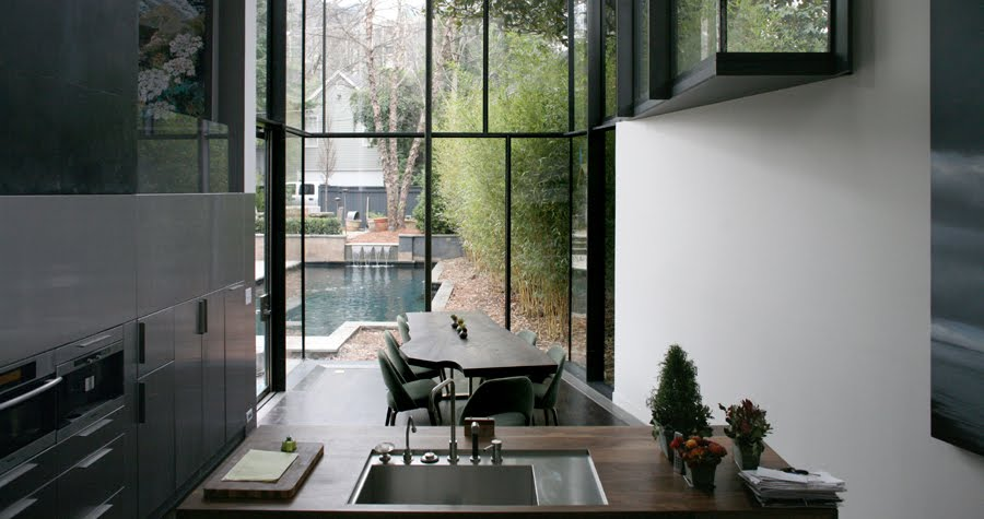 Front Glass Elevation House : The north elevation spaces brian bell david yocum