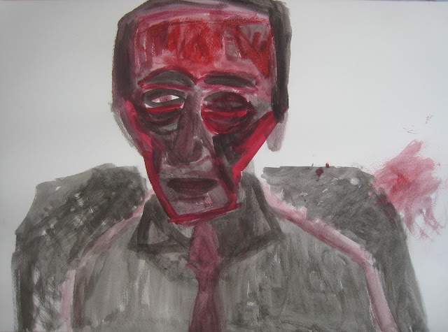 retrato marcel duchamp emebezeta monica borras arte pintura dibujo rojo