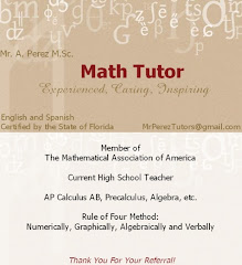 Private Tutoring With Mr. Perez