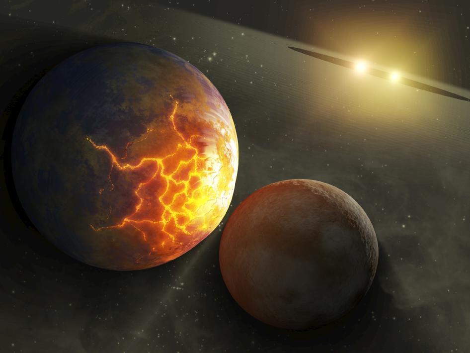 Planets around Stars wallpaper background