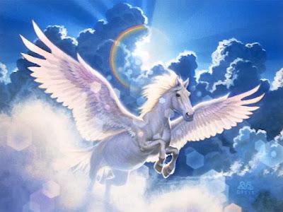 Пегас - крилатият кон Pegasus_and_sky