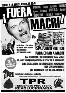 ¡Fuera Macri!