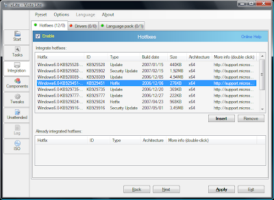 customize the Windows vista installtion before installing