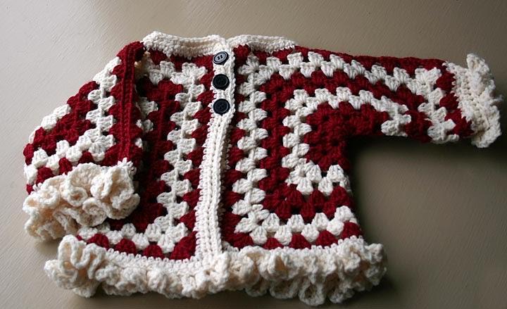 Crochet Hexagon Baby Jacket Pattern : Yarn Tails: Ruffled Hexagon Baby Jacket