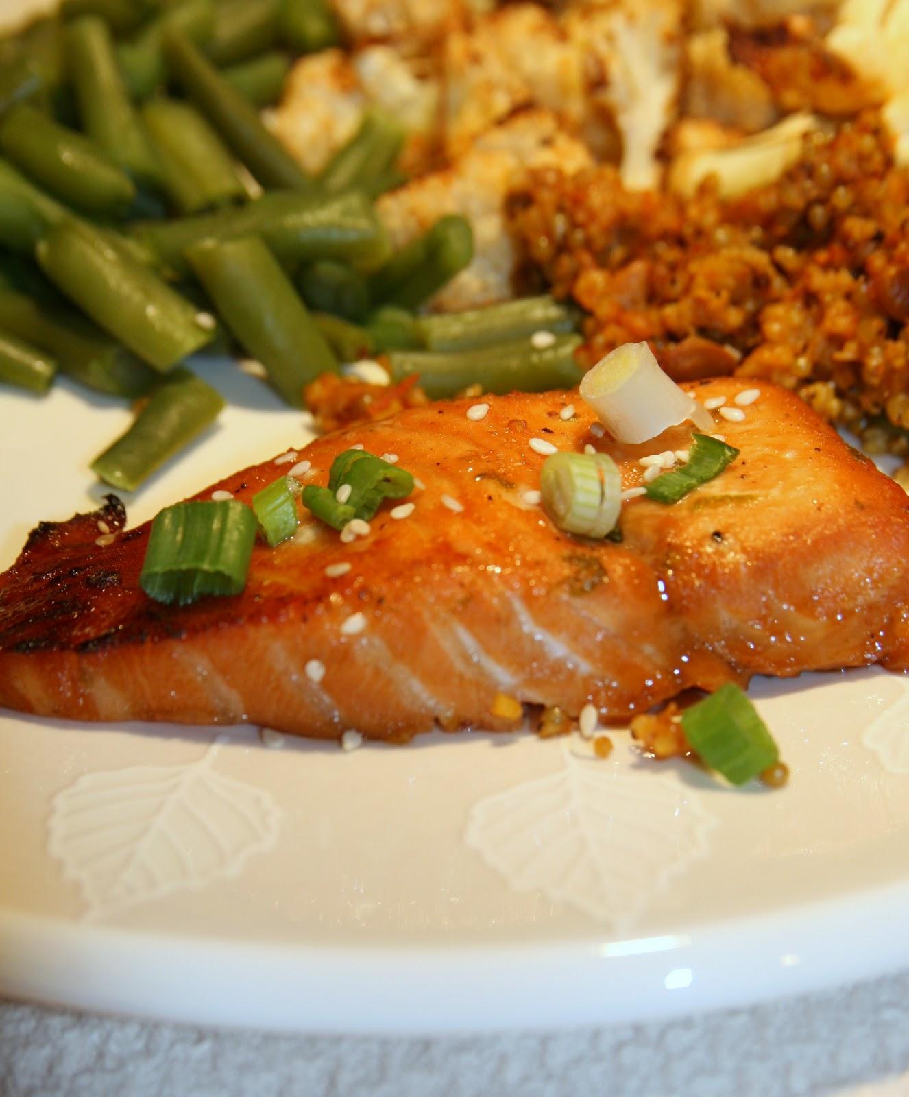 Haystacks & Champagne: Bourbon-Glazed Salmon