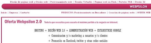 Webpsilon diseño de páginas web