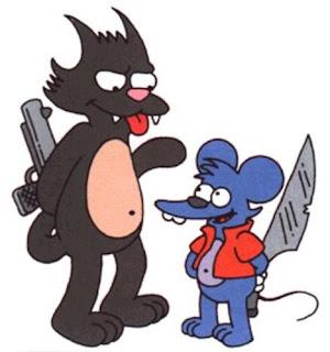 en este listado de gatos famosos. Compartiendo su lugar con Tomy, del dibujo animado dentro del dibujo animado, Tomy  Dale (parodia de Tom  Jerry).