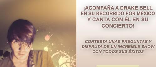 concurso conciertos Drake Bell Mexico