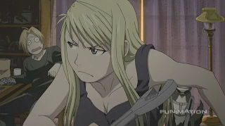 Winry and Ed in FMA: Brotherhood Episode 46