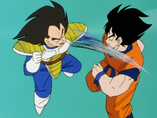 Vegeta and Goku duke it out in the final episode of the first DBZ Kai set