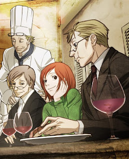 The main cast of Ristorante Paradiso (Claudio and Nicoletta in bottom left)