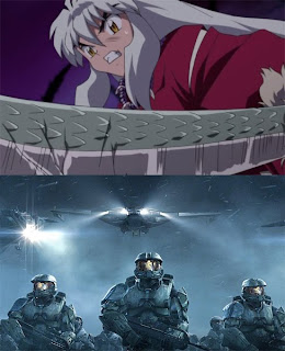 top: Inu Yasha - The Final Act, bottom: Halo Wars